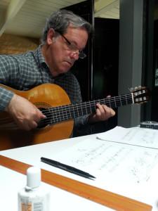 Gregg creating fine guitar chamber music arrangements