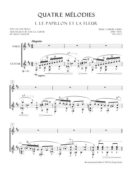 Faure-QuatreMelodiesClearNote-Page1
