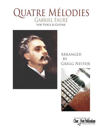 Faure-Quatre Melodies Clear Note