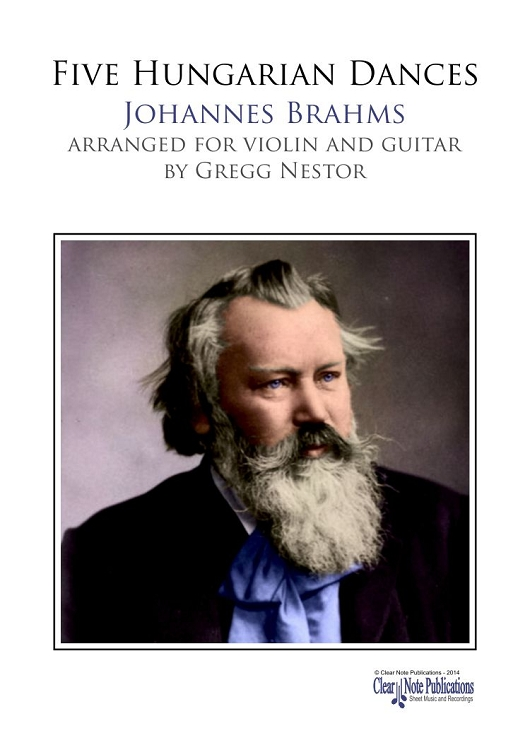 Brahms: Five Hungarian Dances for Violin and Guitar Cover