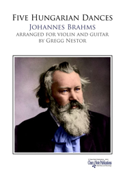 Brahms: 5 Hungarian Dances arr. for Violin and Guitar